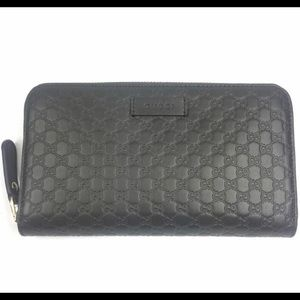 Gucci #449391 Brown GG Guccissima Leather Wallet